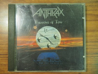 ◎MWM◎【二手CD】Anthrax- Persistence Of Time 有歌詞, 無ifpi, 英版