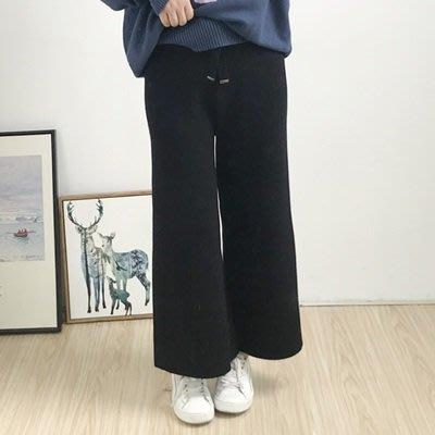 休閒 褲 寬管 長褲-初秋新款針織鬆緊腰女褲子2色73tq5[獨家進口][米蘭精品]