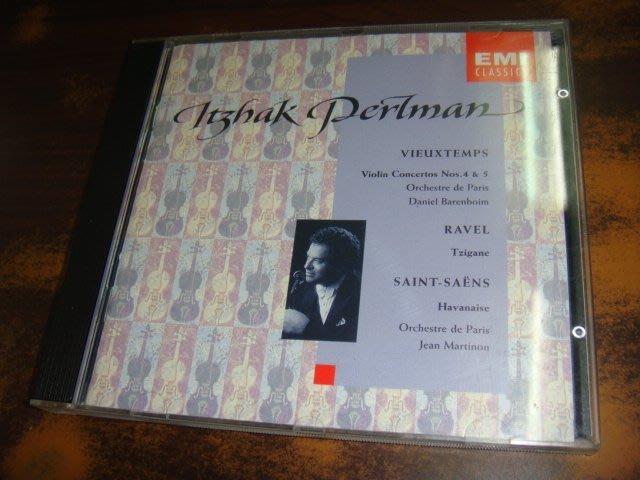好音悅 帕爾曼 Perlman Vieuxtemps 第四.五號小提琴協奏曲 拉威爾 吉普賽人 聖桑 哈瓦奈舞曲 EMI
