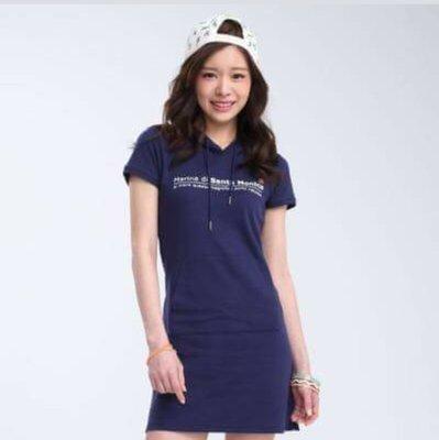 ※專櫃正品Top Girl 丈青色棉質洋裝