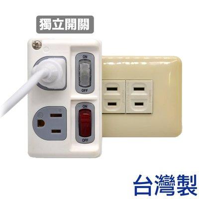 「CP好物」安全電源分接式插座 (獨立開關/3孔) 2開2座雙切插座 1轉2插座 延長線 -台灣製造