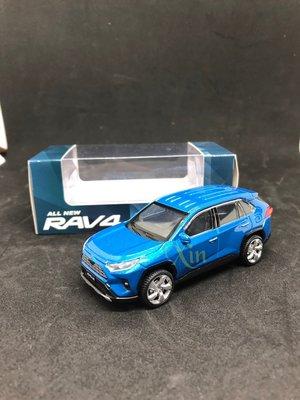 TOYOTA原廠RAV4五代 LED迴力車 尺寸1:43 藍-免運費