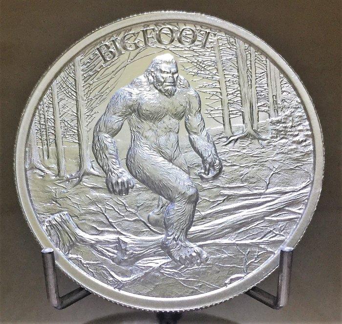 2 toz 神話動物銀幣- Bigfoot 大腳怪