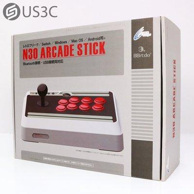 【US3C-小南門店】【全新品】八位堂 8Bitdo N30 Arcade Stick 無線藍牙街機大搖桿 支援Switch/Android/Steam/Mac