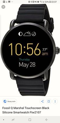 Fossil Q Marshal smart watch with Android Wear