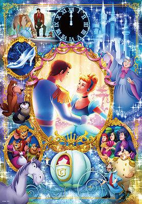 缺 日本進口拼圖 迪士尼 公主與王子 Cinderella 仙杜瑞拉 灰姑娘 1000片拼圖 1000-061