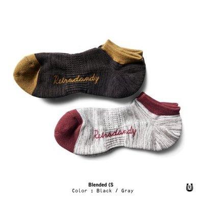 (I LOVE樂多) Retrodandy Blended Socks 麻花紋復古條紋短襪 共兩款可選購