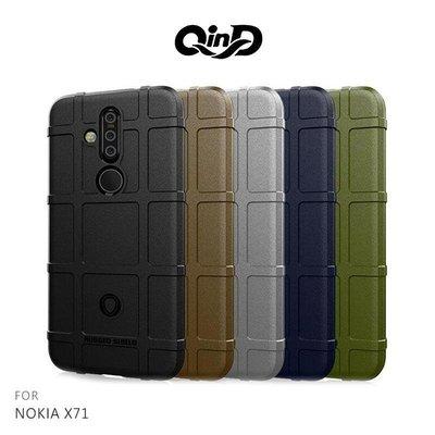 --庫米--QinD NOKIA X71 戰術護盾保護套 背蓋 TPU套 手機殼 鏡頭保護 保護殼