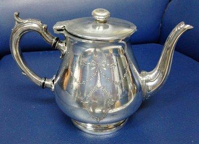 35George Wish Silver Plate Teapot EPBM 高級英國鍍銀壺 circa 1900