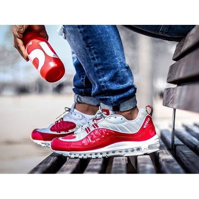 Nike Lab Air Max 98 x Supreme 紅灰 氣墊 經典 慢跑 3M 反光