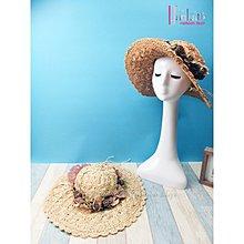 夏季新款度假風花朵成人草編帽系列