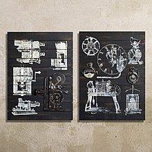 工業LOFT風格美式鄉村儀表電影元素vintage壁飾掛鐘表複古掛畫(兩款可選)