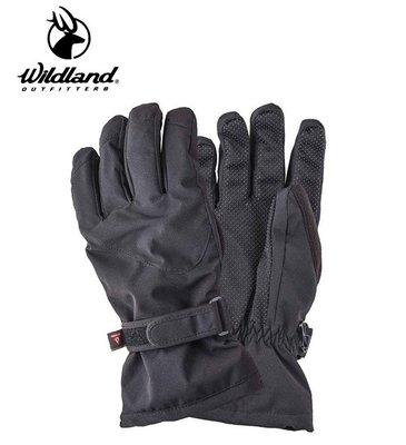 丹大戶外用品【Wildland】荒野 中性彈性PR防風防水手套-黑色 型號 0A22002-54