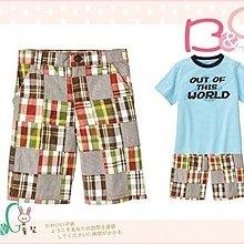 【B& G童裝】正品美國進口GYMBOREE 咖啡紅格子拼布短褲6,7yrs