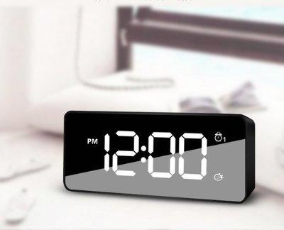 迴圈充電鬧鐘智慧記憶電子鐘多功能創意學生床頭音樂小鬧鐘表簡約 音樂鈴聲 2组闹钟電子時鐘
