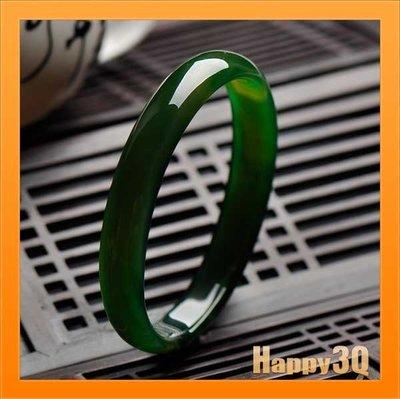 送禮收藏自戴天然原色綠色瑪瑙結緣細條綠色手鐲玉鐲-多尺寸【AAA1046】預購