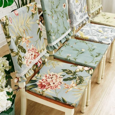 SUNNY雜貨-棉麻椅墊套餐椅子坐墊可拆洗餐桌套裝美式現代布藝四季可用#防塵罩#家居用品