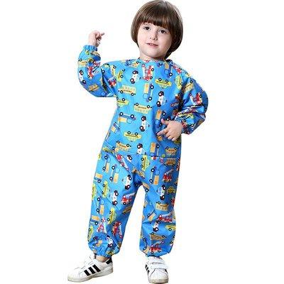 [DawnTung]2004 兒童雨衣 雨衣 雨鞋 卡通雨衣 畫畫衣 雨傘滿圖連體兒童罩衣男女童寶寶罩衣防水畫26