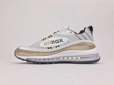 """D-BOX Nike Air Max 98 UK """"Gold UK GM """"氣墊 子彈鞋 白金  AJ6302-100"""