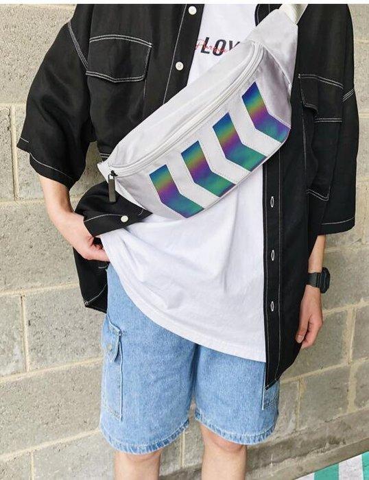FINDSENSE X  男女旅行手機包時尚胸包男斜挎百搭挎包漸變色腰包