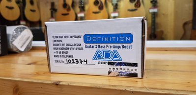 【又昇樂器 . 音響】ADA Definition GUITAR & BASS PRE-AMP BOOST 單顆效果器