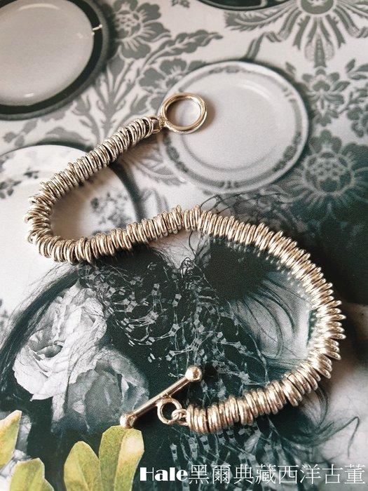 黑爾典藏西洋古董 ~純銀 925 銀鍊圈圈 OT扣手環 ~美國品牌時尚走秀雜誌
