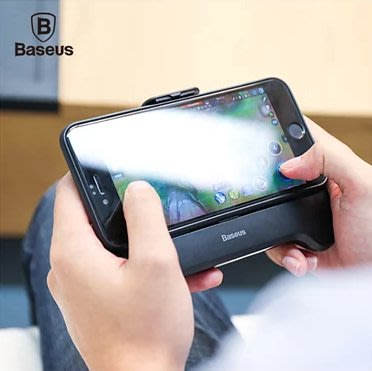 【Baseus 倍思】 王者手機散熱器(黑) 兼行動電源 支架 手把 傳說對決 天堂 Ios 安卓通用