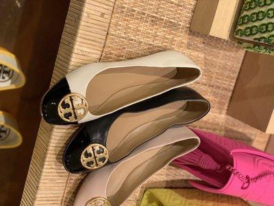 ╭☆包媽子店☆TORY BURCH 新款Chelsea Cap Toe Ballet Flats 真皮拼色芭蕾鞋/平底鞋