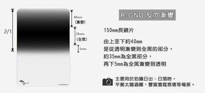 【控光後衛】Reversed GND方形反向漸層鏡ND1.2Grad