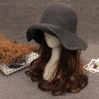 漁夫帽 毛帽 秋冬帽子女時尚百搭盆帽 漁夫帽 韓版潮毛呢帽子  複古小禮帽—莎芭