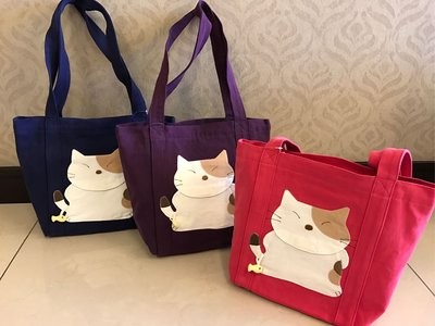 日本卡拉貓~貓咪勾魚防水托特包 側背包...