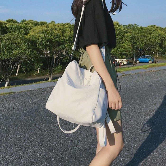 創意 旅行必備 ins超火的雙肩包女軟皮質大容量新款韓版百搭時尚多用背包