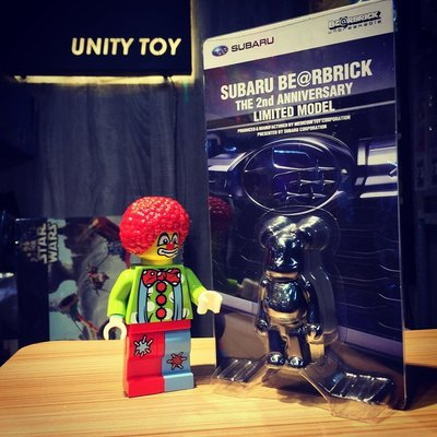 Medicom Toy 100% Subaru Be@rbrick The 2nd Anniversary Limited Model (Unity Toy)