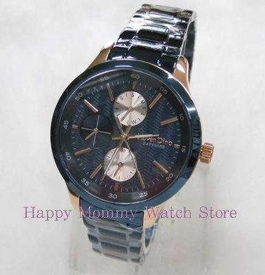 【幸福媽咪】Roven Dino 羅梵迪諾 時尚波浪紋三眼錶 女錶RD768B