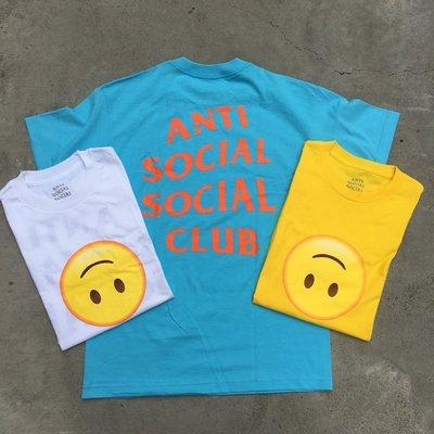 ☆LimeLight☆ Anti Social Social Club Hmu Yellow Tee 笑臉 微笑 三色