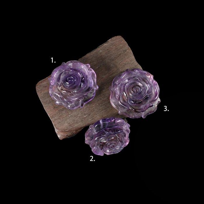 《博古珍藏》頂級天然巴西紫黃水晶玫瑰花項鍊吊墜飾品.鎮宅開智慧安神.禮物禮盒.底價回饋.1個1000元