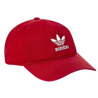 【A-KAY0 5折】ADIDAS 男女 RELAXED STRAPBACK 老帽 紅白【CI7678】