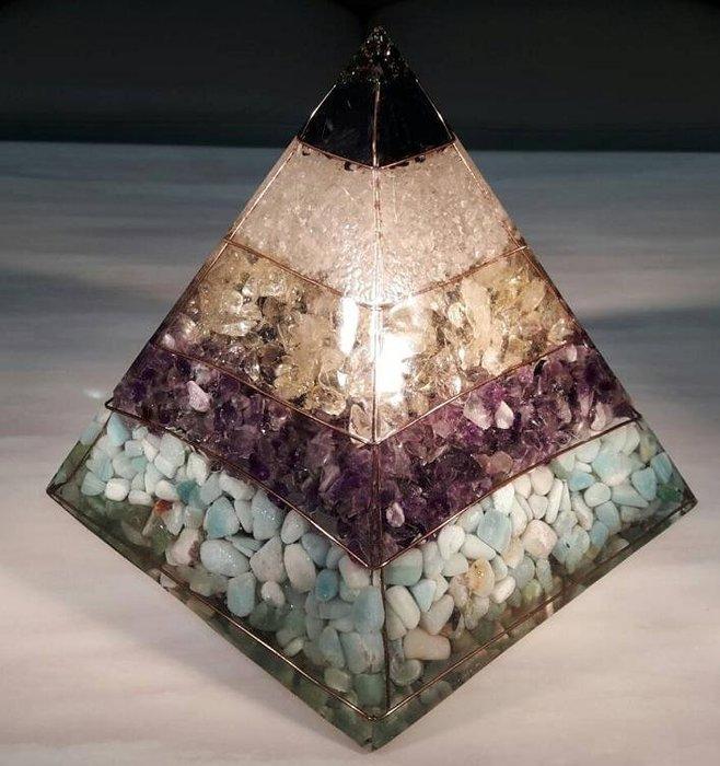 客製化 金字塔 奧剛石 Orgonite 能量石 可當紙鎮 水晶飾品 生日禮物 耶誕節 禮物