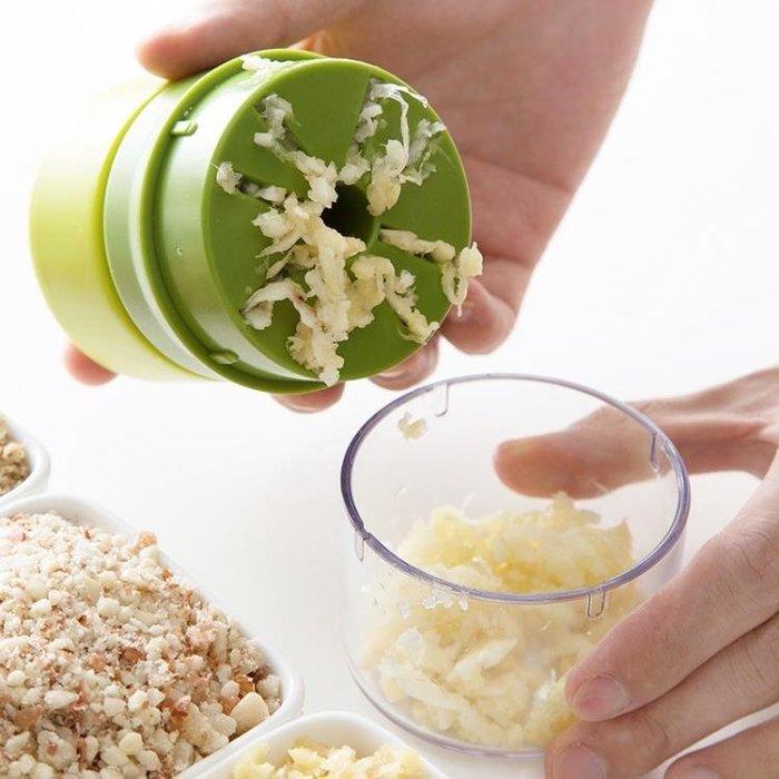 手動蒜蓉壓蒜器創意磨蒜搗蒜器 廚房小型姜蒜攪碎機蒜泥器