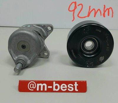 BENZ W140 M104 皮帶惰輪 6溝 鐵 (惰輪x1+惰輪座總成x1) (2件套餐) 1192001470