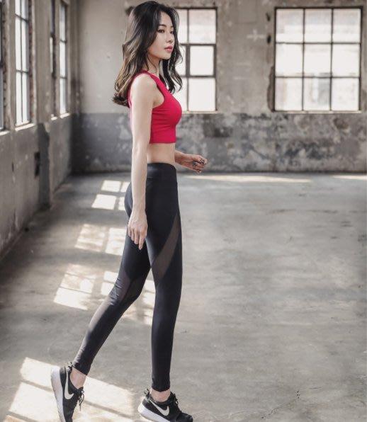 韓國品牌Barrel運動系列 正貨代購 紅色背心+黑色網紗褲瑜珈跑步 健身套裝 材質超好 私心大推