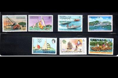 最新船類票品-格瑞那達-帆船類01郵票7V