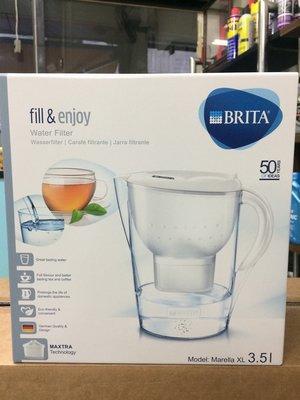 【BRITA 德國】Marella、XL、3.5L、濾水壺/白色、附濾芯1顆,一盒裝【德國原裝進口】