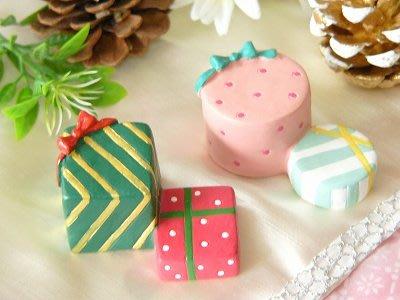ArielWish日本DECOLE CONCOMBRE聖誕節禮物立體蝴蝶結禮物盒情人節交換禮物擺飾品拍照道具-兩款絕版品