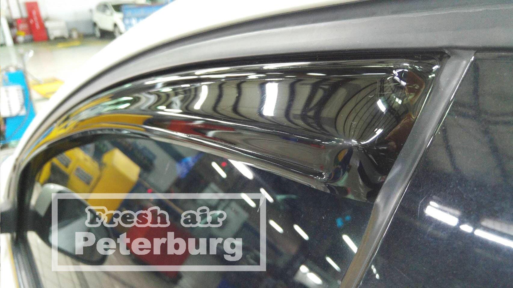 **LW系列 新造型**比德堡崁入式晴雨窗 福特Ford  FOCUS MK3 2012-2018年 (前窗兩片價)