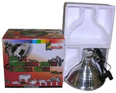 ( 1-10 )ZOO LIFE 遠紅外線陶瓷加溫器150W(完全無光) + 陶瓷鋁製燈罩L+350W控溫器