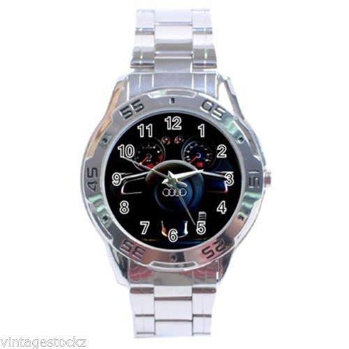 專用非benz風奧*迪五環標速度表正式休閒不銹鋼手錶bmw ROLEX MK LV CASIO
