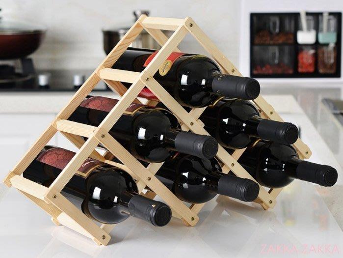 折疊木酒架 歐式時尚紅酒架 葡萄酒架 6瓶裝 酒瓶架子電視柜酒柜吧台客廳餐廳居家裝飾佈置擺飾♡幸福底家♡