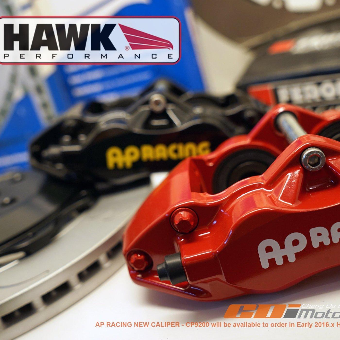 AP RACING CP-9200(紅) 四活塞組+原裝HAKW 330x28mm碟盤組完整