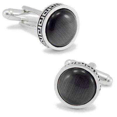 hello小店-黑色圓形貓眼石袖扣法式袖釘男士袖口扣商務休閑襯衫男女DM#袖扣#裝飾品#飾品#